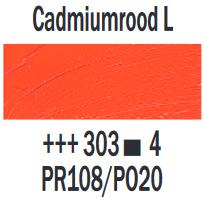 Cadmiumrood licht  Rembrandt Olieverf Royal Talens 40 ML (Serie 4) Kleur 303