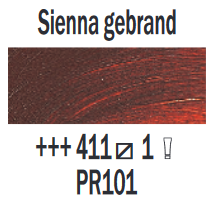 Sienna gebrand  Rembrandt Olieverf Royal Talens 40 ML (Serie 1) Kleur 411