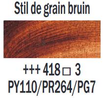 Stil de grain bruin  Rembrandt Olieverf Royal Talens 40 ML (Serie 3) Kleur 418