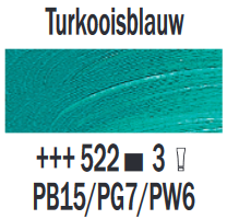 Turkooisblauw  Rembrandt Olieverf Royal Talens 40 ML (Serie 3) Kleur 522
