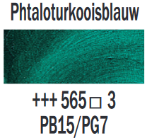Phtaloturkooisblauw  Rembrandt Olieverf Royal Talens 40 ML (Serie 3) Kleur 565