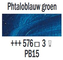 Phtaloblauw groen  Rembrandt Olieverf Royal Talens 40 ML (Serie 3) Kleur 576