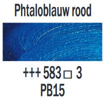 PhtaloblauwRood  Rembrandt Olieverf Royal Talens 40 ML (Serie 3) Kleur 583