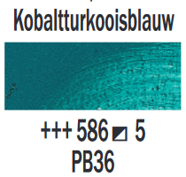 Kobaltturkooisblauw  Rembrandt Olieverf Royal Talens 40 ML (Serie 5) Kleur 586