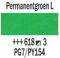 Permanentgroen Licht  Rembrandt Olieverf Royal Talens 40 ML (Serie 3) Kleur 618