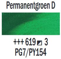 Permanentgroen donker  Rembrandt Olieverf Royal Talens 40 ML (Serie 3) Kleur 619