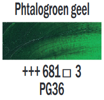 Phtalogroen geel  Rembrandt Olieverf Royal Talens 40 ML (Serie 3) Kleur 681