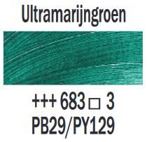Ultramarijngroen  Rembrandt Olieverf Royal Talens 40 ML (Serie 3) Kleur 683