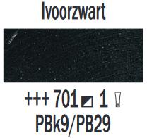 Ivoorzwart  Rembrandt Olieverf Royal Talens 40 ML (Serie 1) Kleur 701