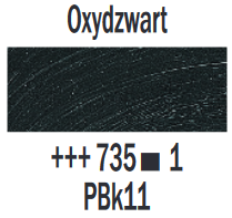 Oxydzwart  Rembrandt Olieverf Royal Talens 40 ML (Serie 1) Kleur 735
