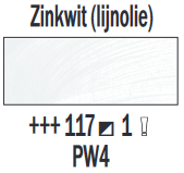 Rembrandt Olieverf Zinkwit lijnolie  Royal Talens 150 ML Kleur 117