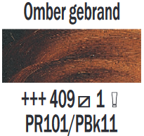 Rembrandt Olieverf Omber gebrand  Royal Talens 150 ML Kleur 409
