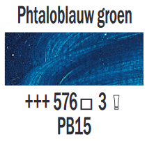 Rembrandt Olieverf Phtaloblauw groen  Royal Talens 150 ML Kleur 576
