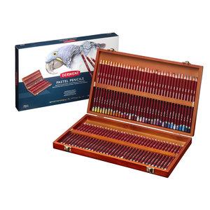 Derwent Pastelpotloden set 72 houten cassette / kist