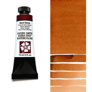 Burnt Sienna (S1) Aquarelverf Daniel Smith (Extra fine Watercolour) 15 ml Kleur 010