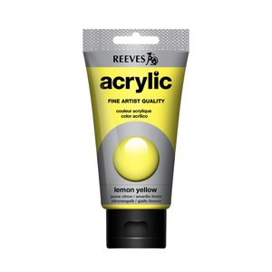 Acrylverf Lemon Yellow 75 ML Reeves Artist Kleur 100