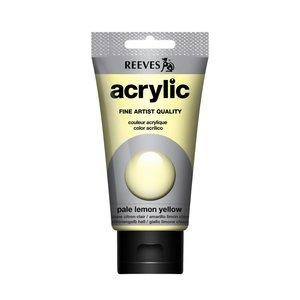 Acrylverf Pale Lemon Yellow 75 ML Reeves Artist Kleur 101