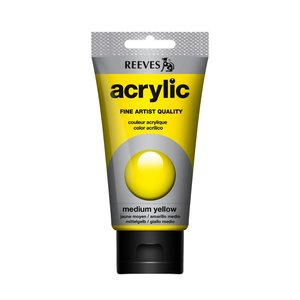 Acrylverf Medium yellow 75 ML Reeves Artist Kleur 120
