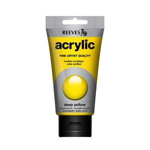 Acrylverf Deep yellow 75 ML Reeves Artist Kleur 130