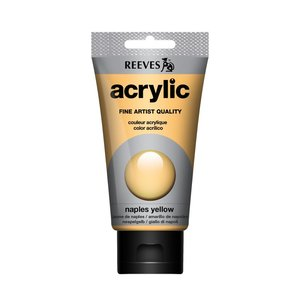 Acrylverf Naples yellow 75 ML Reeves Artist Kleur 495