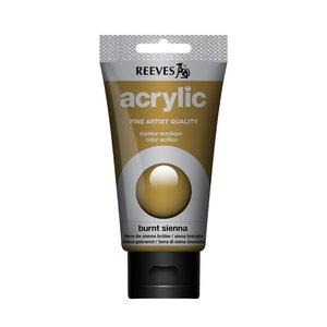 Acrylverf Burnt sienna 75 ML Reeves Artist Kleur 520