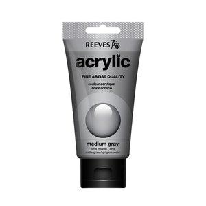 Acrylverf Medium grey 75 ML Reeves Artist Kleur 600