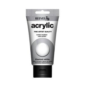 Acrylverf Titanium white 75 ML Reeves Artist Kleur 710