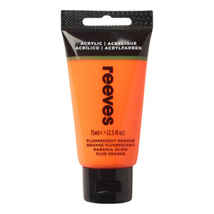 Acrylverf Fluo Orange 75 ML Reeves Artist Kleur 883