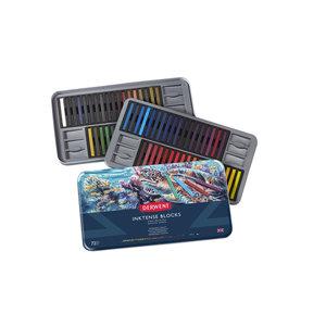 Derwent Inktense Blocks blik met 72 kleuren