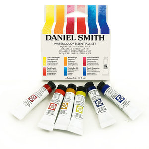Essentials set  Aquarelverf Daniel Smith (Extra fine Watercolour) 6 x 5 ml tubes Set 005