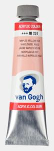 Napelsgeel rood Van Gogh Acrylic Colours / Acrylverf Royal Talens 40 ML Kleur 224