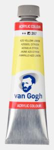 Azogeel citroen Van Gogh Acrylic Colours / Acrylverf Royal Talens 40 ML Kleur 267
