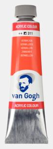 Vermiljoen Van Gogh Acrylic Colours / Acrylverf Royal Talens 40 ML Kleur 311