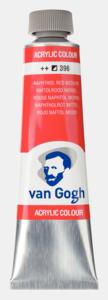 Naftolrood middel Van Gogh Acrylic Colours / Acrylverf Royal Talens 40 ML Kleur 396