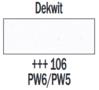 Plakkaatverf Dekwit Extra fijn (Gouache Extra fine) Royal Talens 20 ML Kleur 106