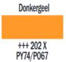 Plakkaatverf Donkergeel Extra fijn (Gouache Extra fine) Royal Talens 20 ML Kleur 202