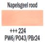 Plakkaatverf Napelsgeel Rood Extra fijn (Gouache Extra fine) Royal Talens 20 ML Kleur 224