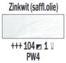 Rembrandt Olieverf Zinkwit  Royal Talens 150 ML Kleur 104