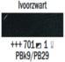 Ivoorzwart  Rembrandt Olieverf Royal Talens 40 ML (Serie 1) Kleur 701_5