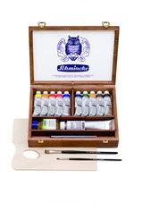 10-x-35-ml-en-extras-in-mooie-houten-kist-Schmincke-Mussini-olieverf--set-70213