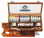 15-x-35-ml-+-wit-in-mooie-houten-kist-Schmincke-Mussini-olieverf-set-70615