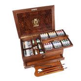 36 x 35 ml in luxe houten kist Schmincke Mussini olieverf set 70151 4012380186805 70151097